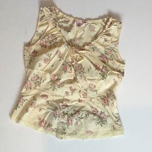 Victoria's Secret Yellow Sleep Shirt Size Small